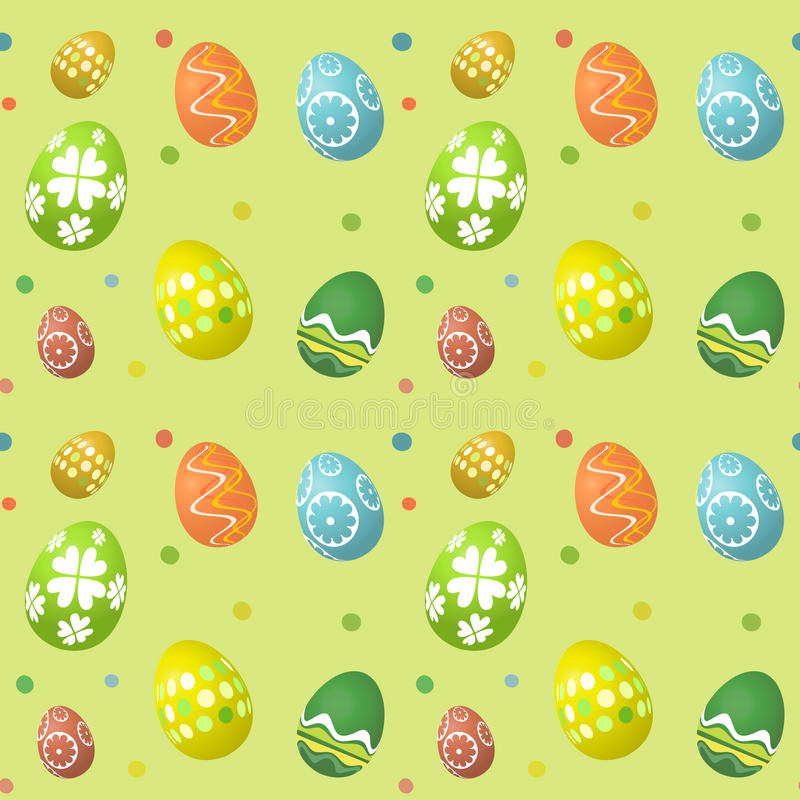 Seamless tile Easter egg background royalty free illustration