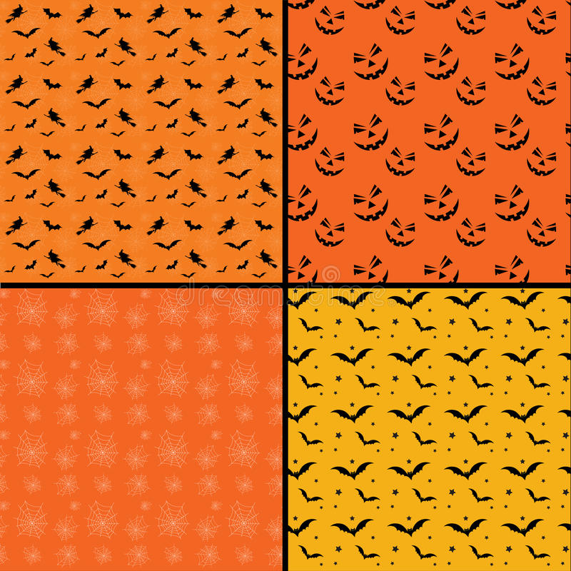 Seamless tile Halloween backgrounds stock illustration