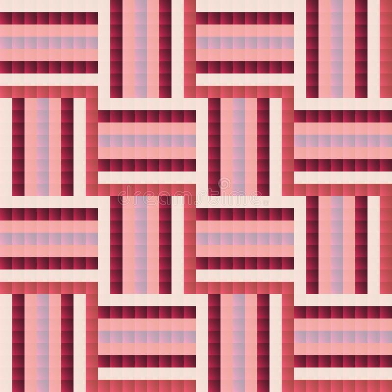 Seamless tile-like abstract geometric pattern design royalty free illustration