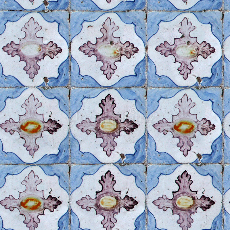 Download Seamless Tile Pattern Of Ancient Ceramic Tiles Stock Image - Image: 12415909