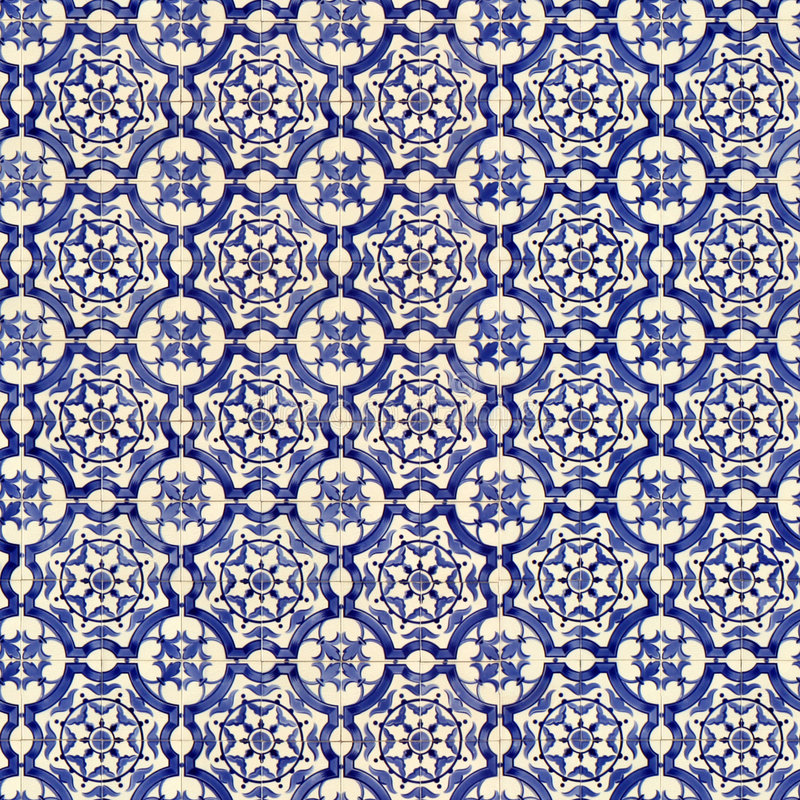 Seamless Tile Pattern Of Ancient Ceramic Tiles Stock Image - Image ...
