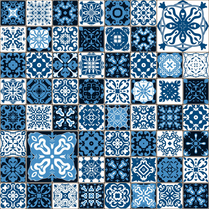 Seamless Tile Pattern Colorful Lisbon Mediterranean
