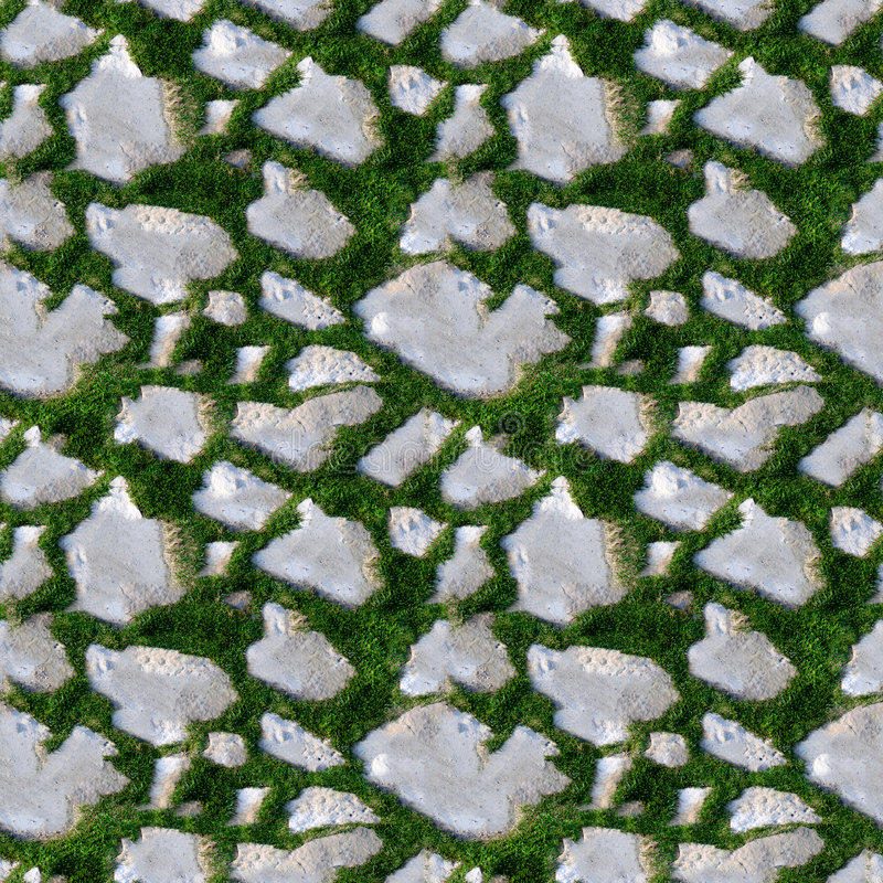 Download Seamless Tile Pattern Of Grass And Rock Stock Photo - Image: 8414806