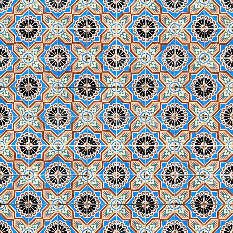 Seamless tile pattern. Of ancient ceramic tiles stock photos