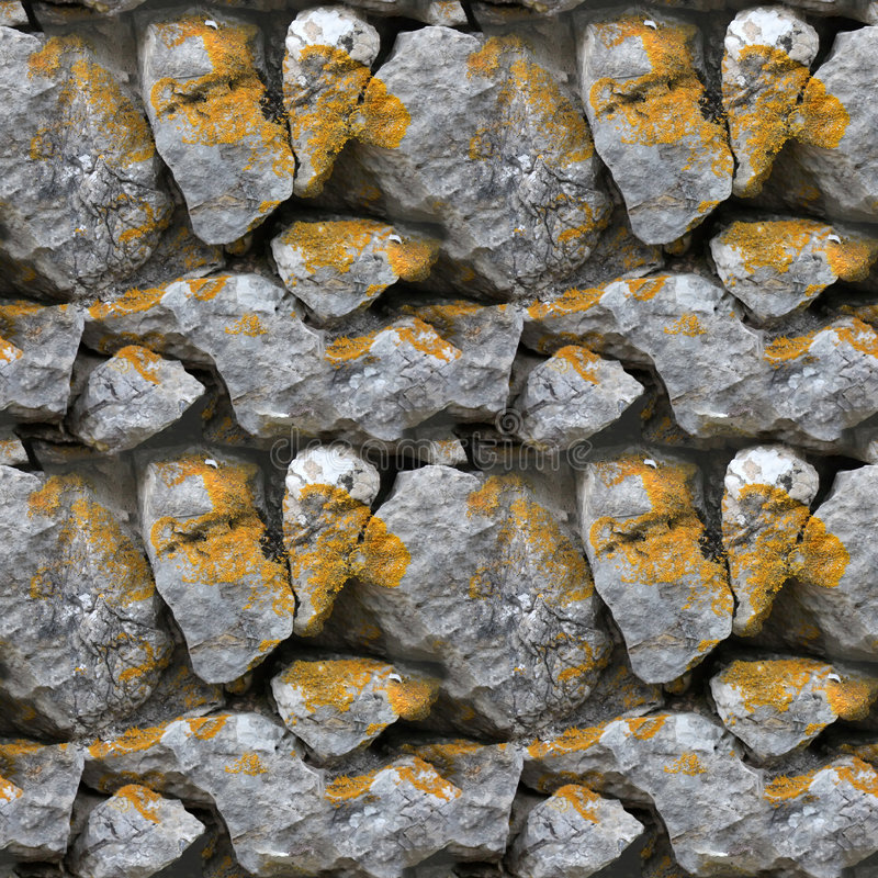 Seamless tile pattern of a stone wall. This is seamless pattern, meaning you can create an arbitrary image size by simply concatenating several of these images stock photo