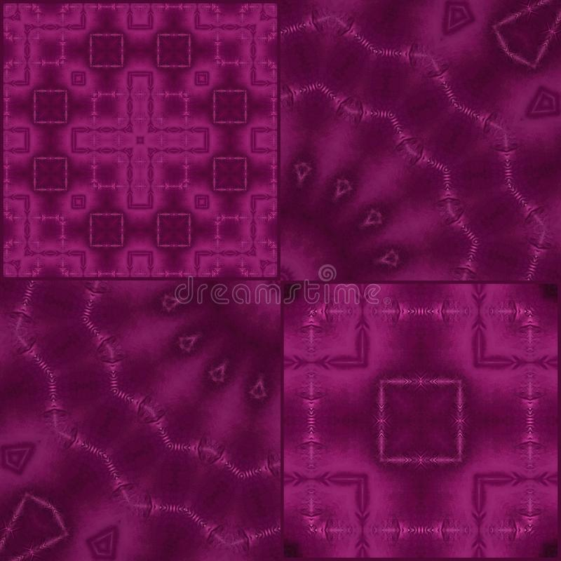Seamless tile purple ornamental abstract pattern. Background stock illustration