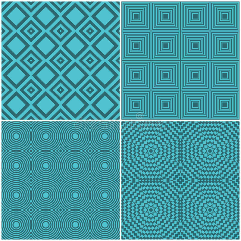 Seamless tile retro backgrounds royalty free illustration