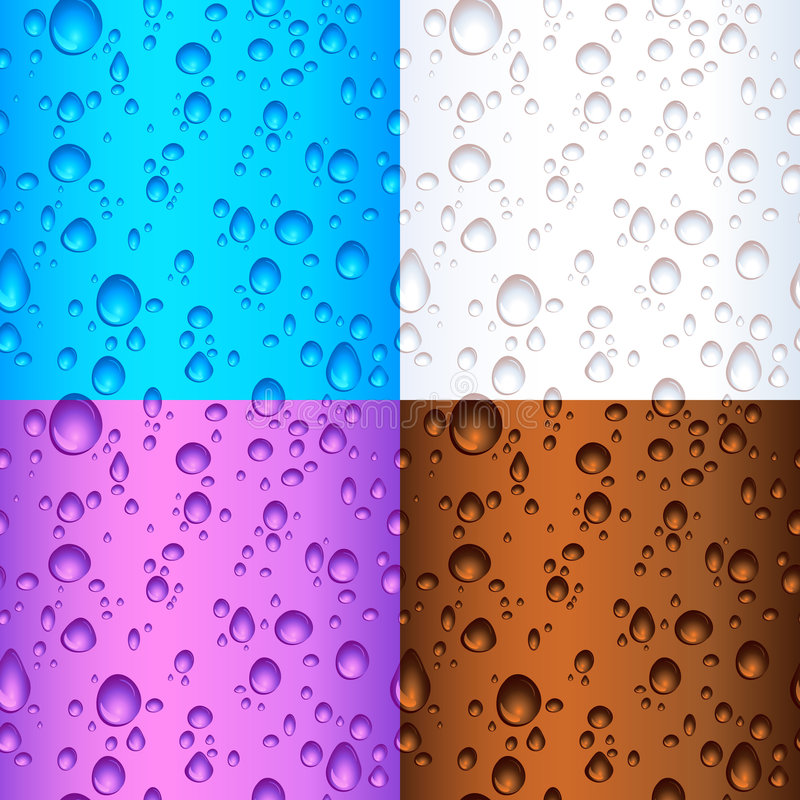 Seamless tile water drops vector illustration