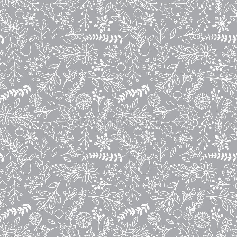 Free Seamless Tileable Christmas Holiday Floral Background Pattern Stock Photo - 45732270