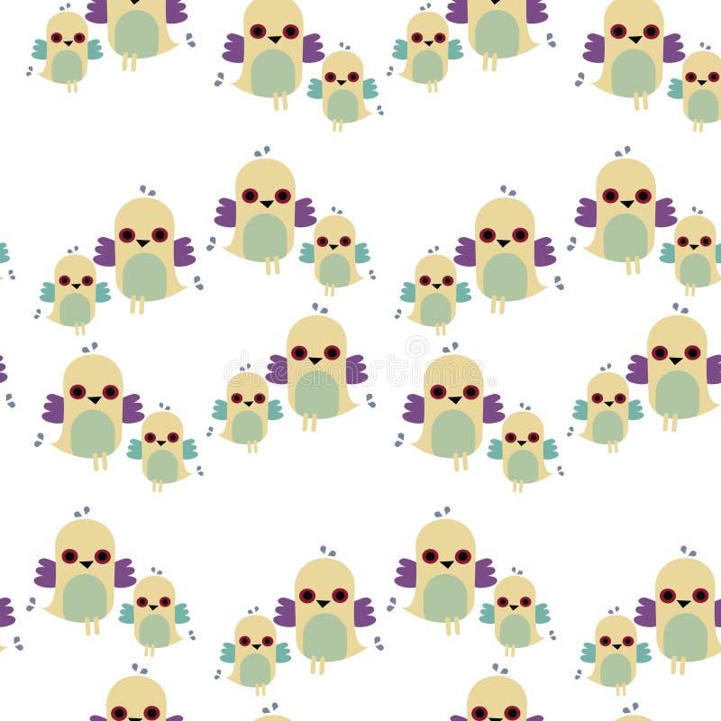 Download Seamless Tiled Pattern Of Birds Stock Vector - Illustration: 12363545
