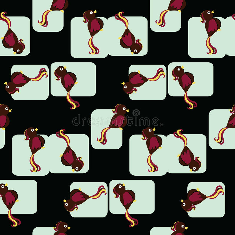 Download Seamless Tiled Pattern Of Birds Stock Vector - Image: 12363643