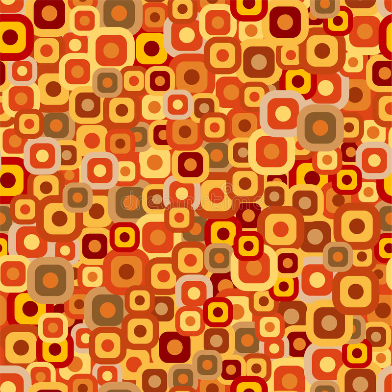Seamless tiles background. In warm autumn colors vector illustration