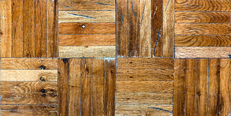 Seamless tiles Old wooden parquet floor stock image