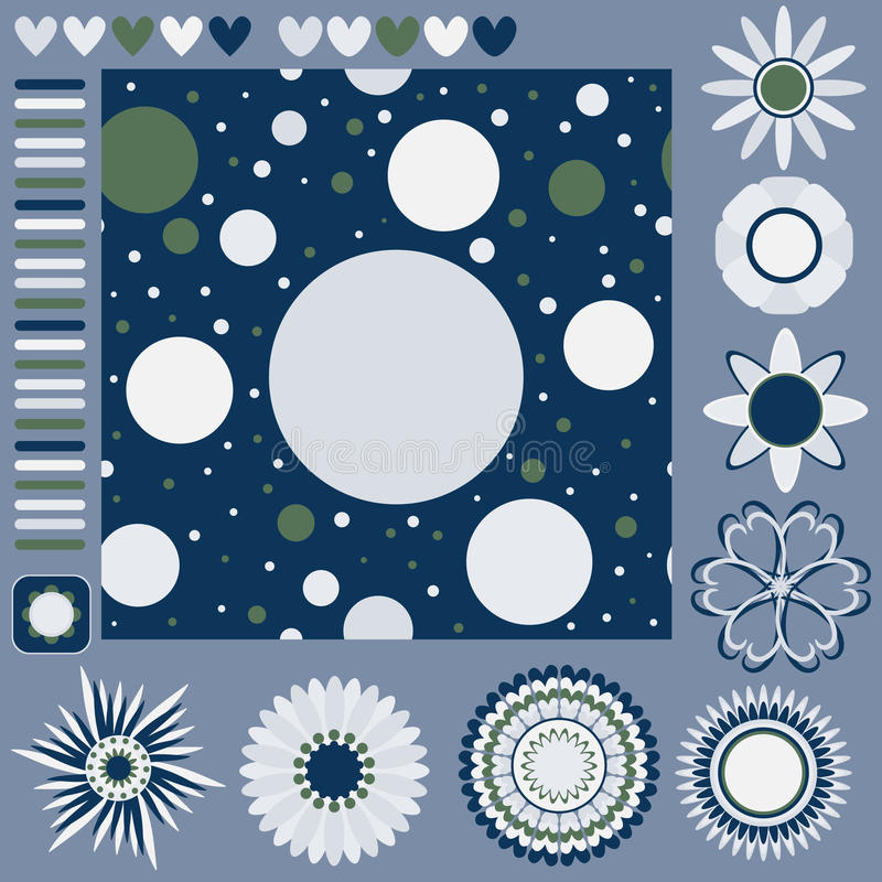 Download Seamless Tiling Texture With Dots And Flowers And Stock Photo - Image: 20691430