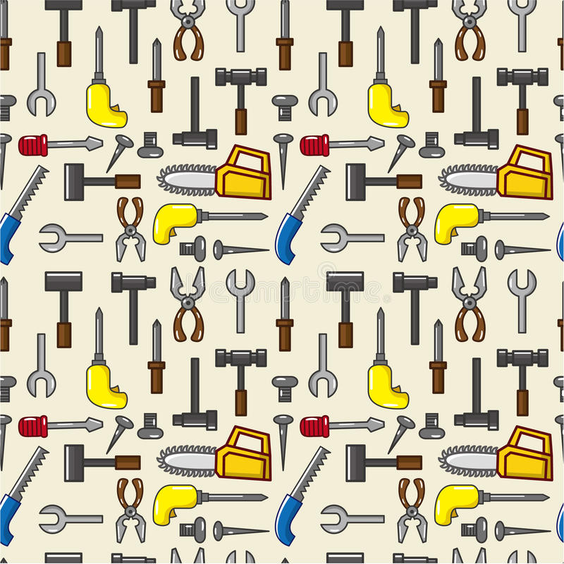 Download Seamless tool pattern stock vector. Image of carpenter - 19009364