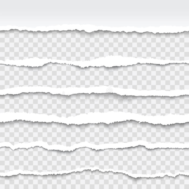 Seamless torn paper edges. Torn paper edges, seamless horizontally, vector royalty free illustration