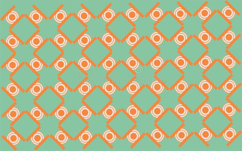 Seamless tosca circle and squere combination geometrical shape repetitive ethnic pattern 22. Seamless tosca orange squere geometricrepetitive background pattern vector illustration