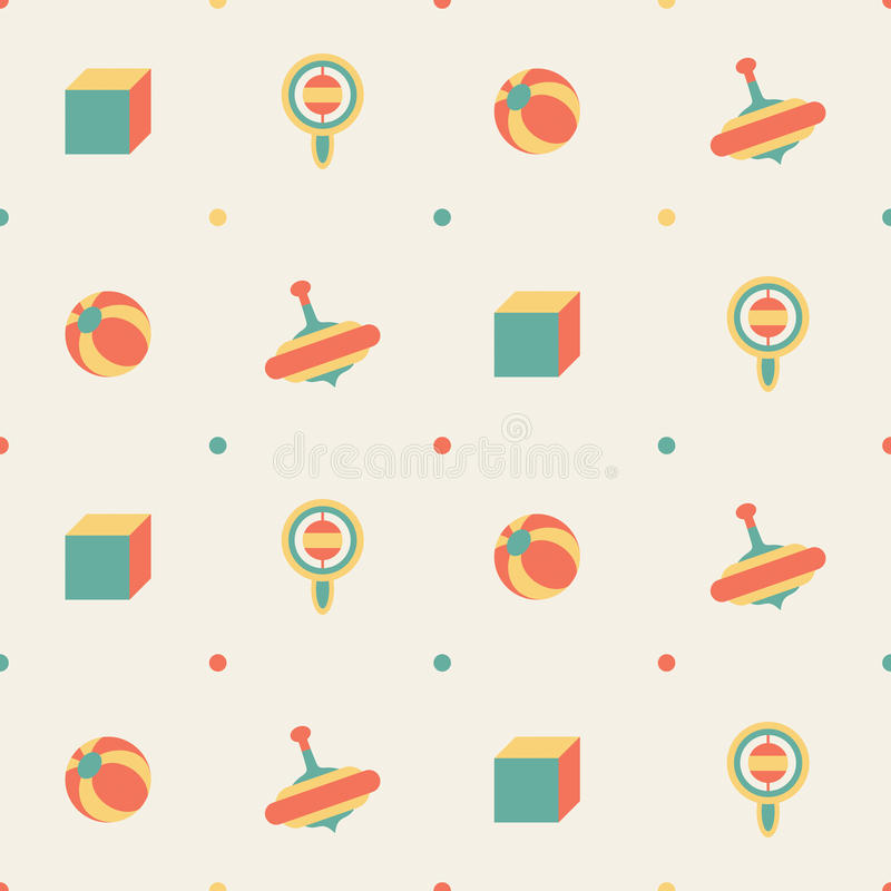 Download Seamless toy pattern stock vector. Image of nice, cubes - 40402197
