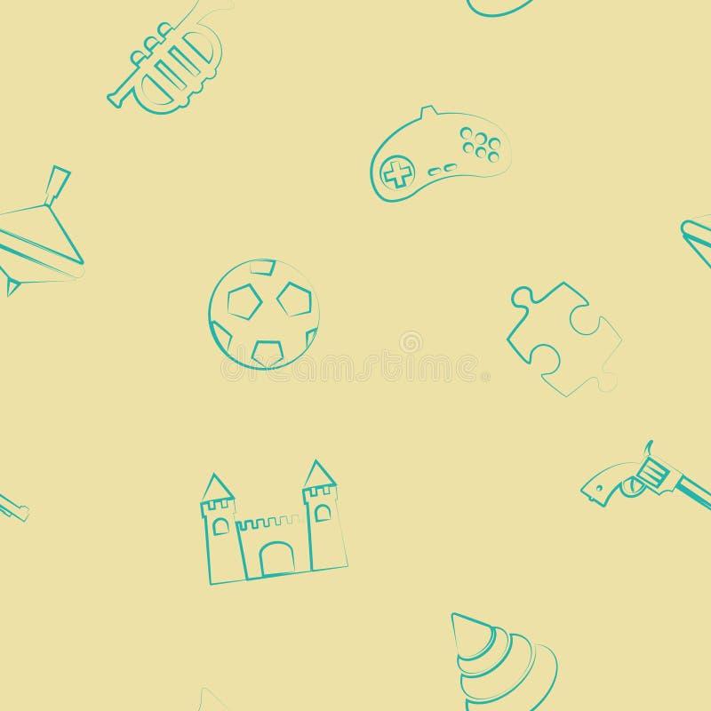seamless toys för bakgrund vektor illustrationer