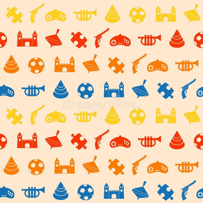 seamless toys för bakgrund royaltyfri illustrationer