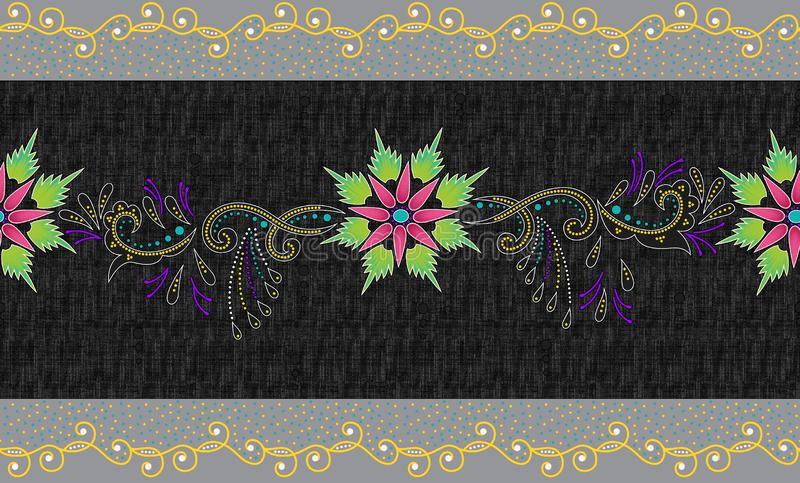 Seamless traditional border. On texture stock images