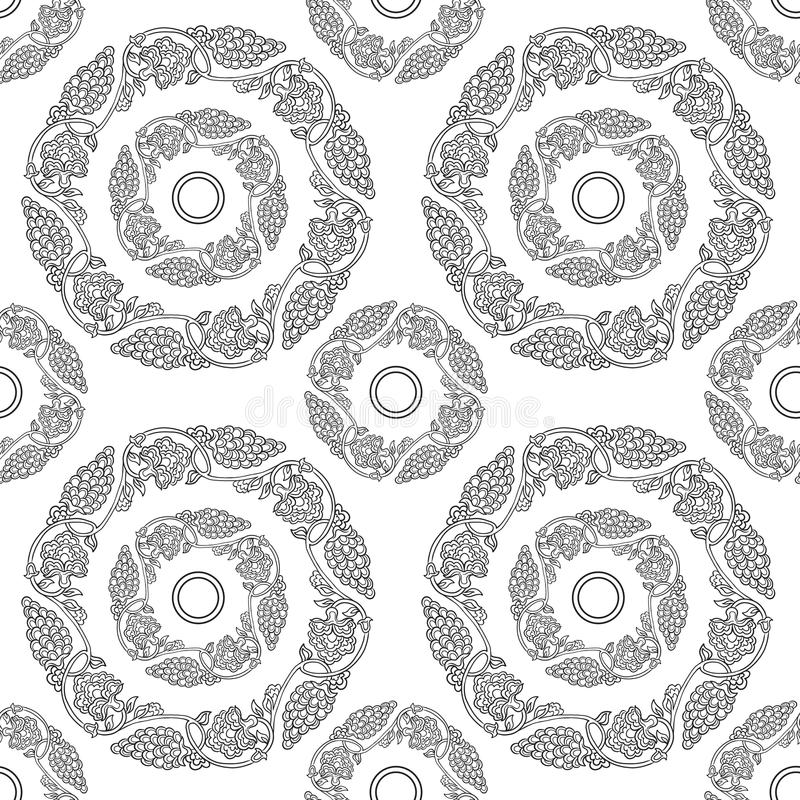 Seamless traditional chinese pattern with floral ornament. Stock vector illustration stock illustration