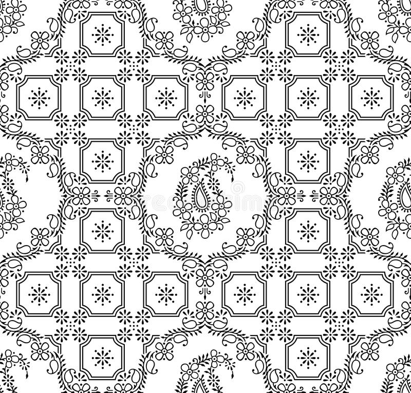 Download Seamless Traditional Indian Paisley Wallpaper Stock Illustration