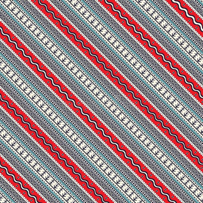 Seamless traditional romanian pattern stock illustration