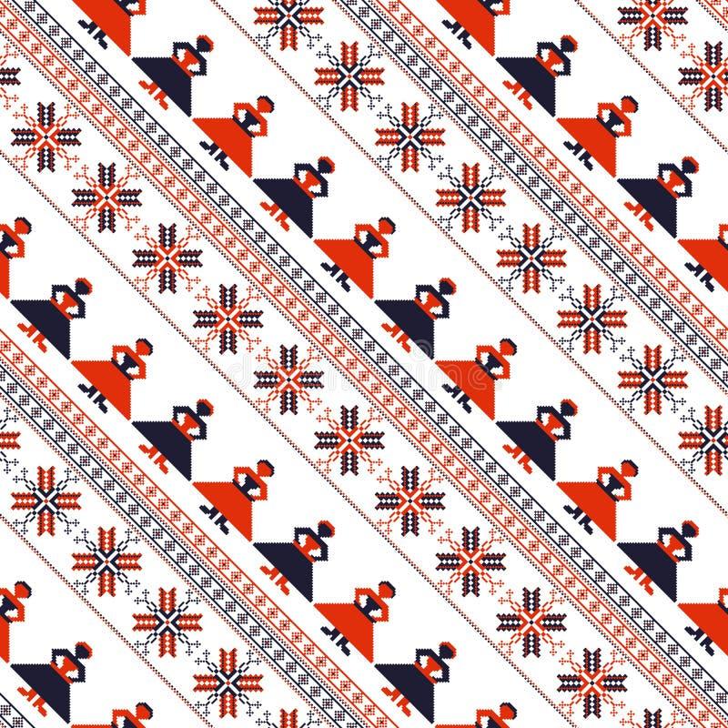 Seamless traditional romanian pattern royalty free illustration