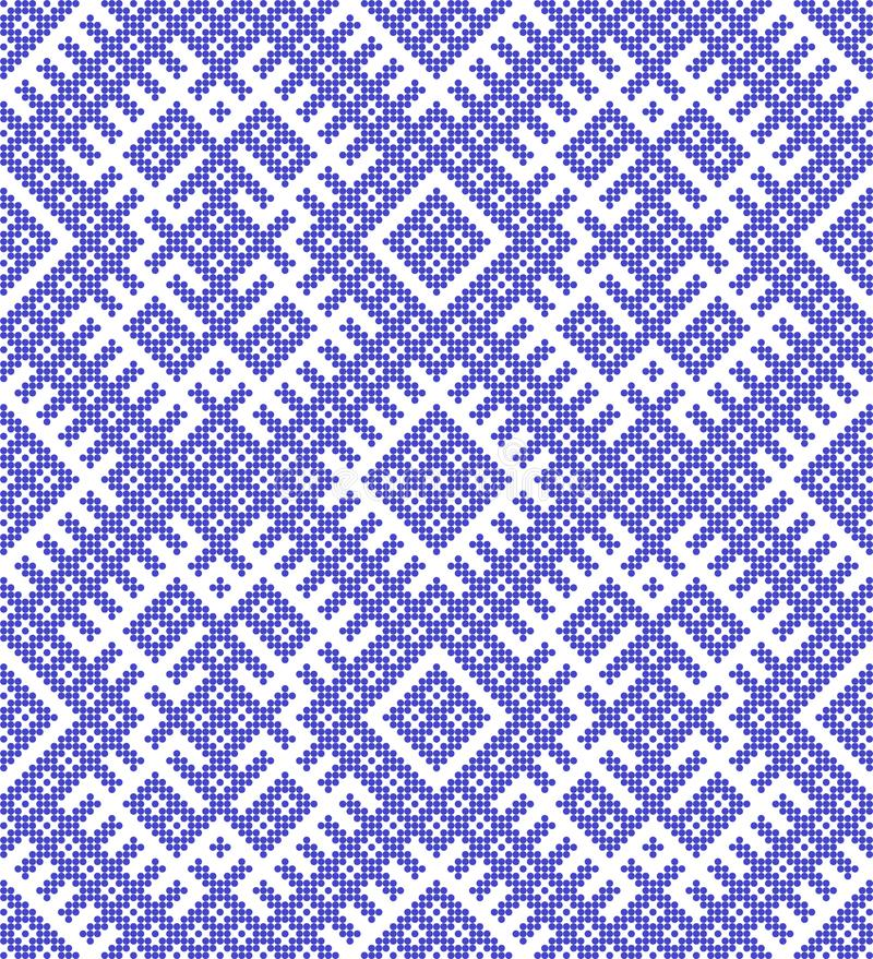 Seamless traditional Russian ornament.DISABLING LAYER, you can obtain seamless pattern.The pattern with blue circles. royalty free illustration