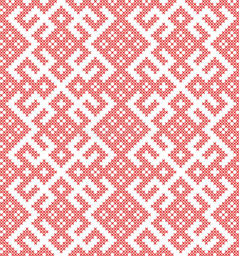 Seamless pattern based on traditional Russian and slavic ornament vector illustration