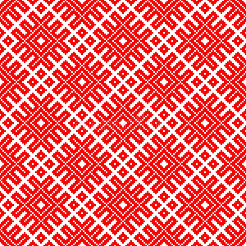 Seamless traditional Russian and slavic ornament made by squares. royalty free illustration