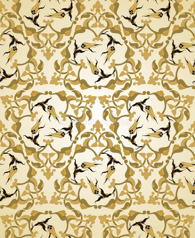 seamless traditionell turk för designottoman royaltyfri illustrationer