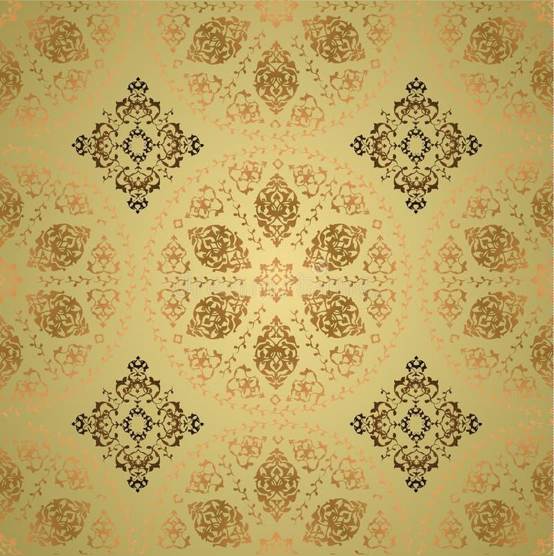 seamless traditionell turk för designottoman stock illustrationer