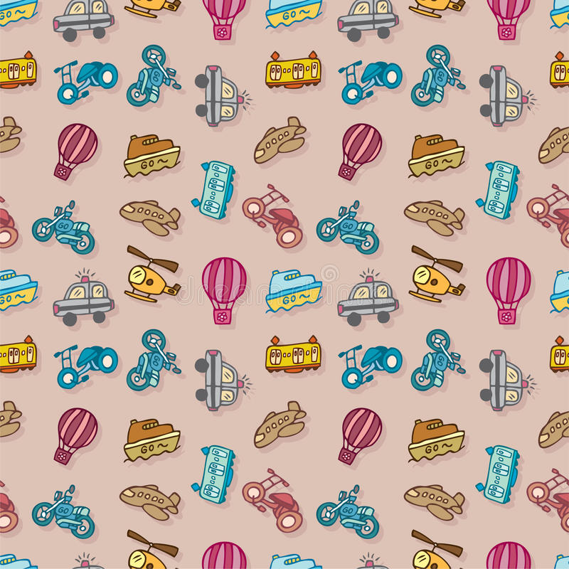 Download Seamless transport pattern stock vector. Image of cute - 16795373