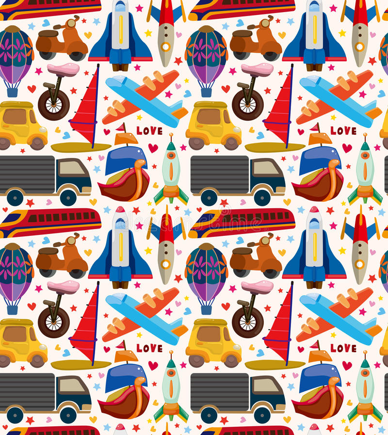 Download Seamless transport pattern stock vector. Image of seamless - 30608413