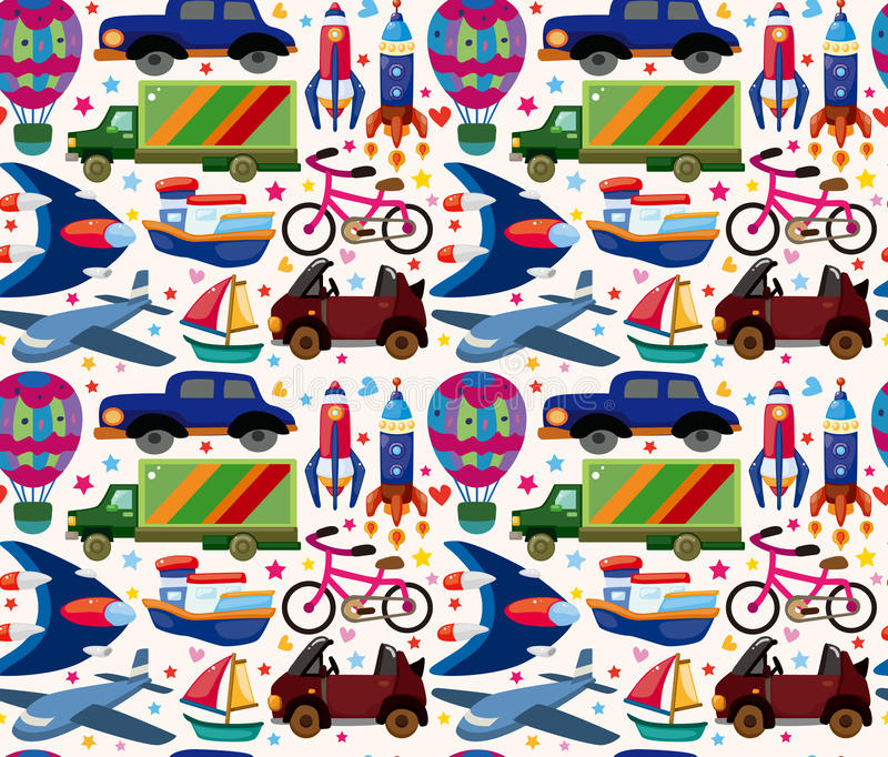 Download Seamless transport pattern stock vector. Image of drawing - 30675326