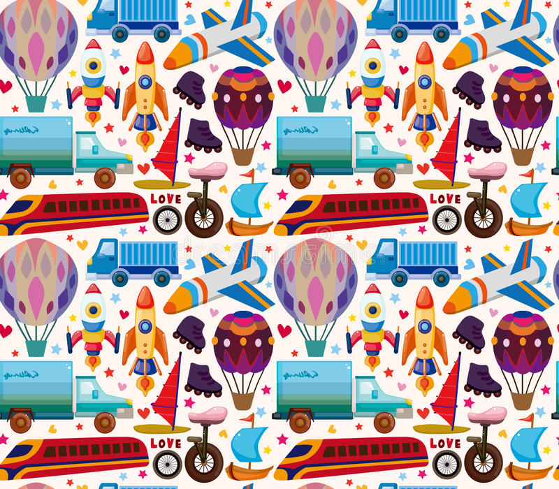 Download Seamless transport pattern stock vector. Illustration of seamless - 30736994