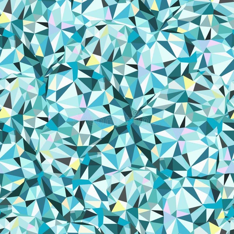 Seamless triangelShape mönstrar vektor illustrationer