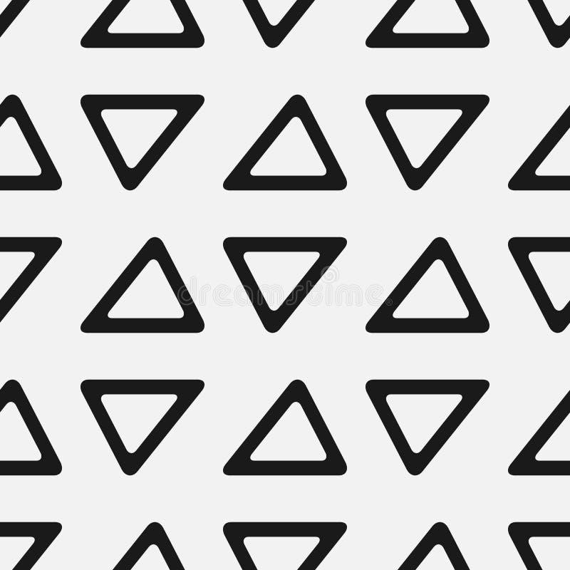 seamless trianglar för modell Enkelt geometriskt tryck stock illustrationer
