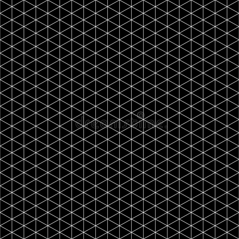 Seamless triangle pattern. Black, white Geometric texture Vector royalty free illustration