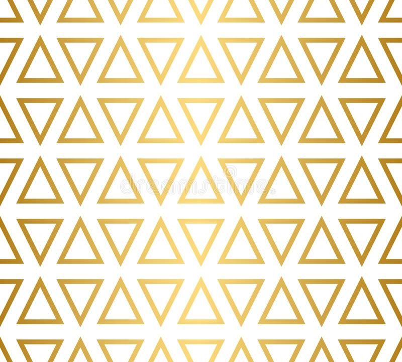 Free Seamless Triangle Pattern In Gold And White Royalty Free Stock Photo - 140175545
