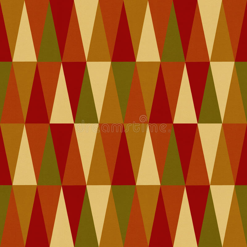 Seamless triangle pattern. On paper texture stock photography