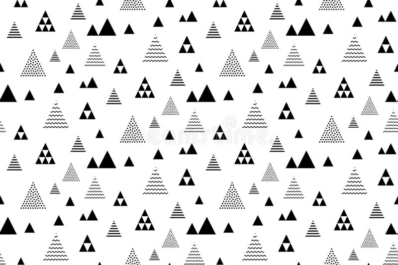 Seamless triangles pattern. Pyramid tile texture. Abstract geometric repeat.  vector illustration