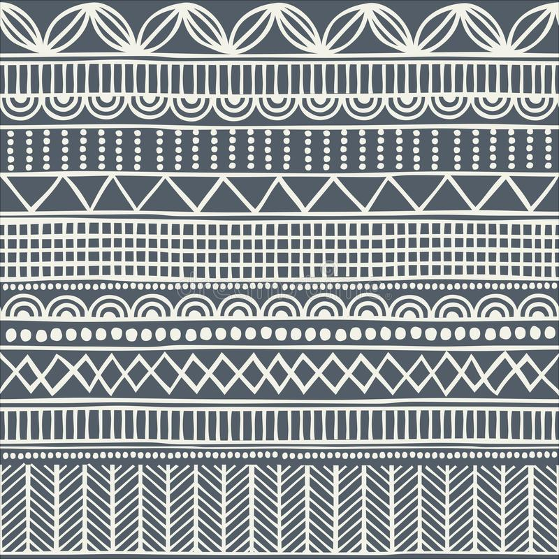 Seamless tribal pattern in the style of a boho. Background African motifs vector illustration