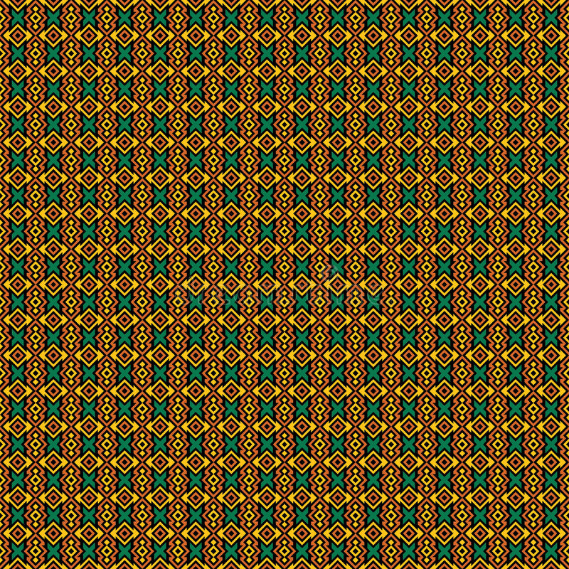 Seamless Tribal Texture royalty free illustration