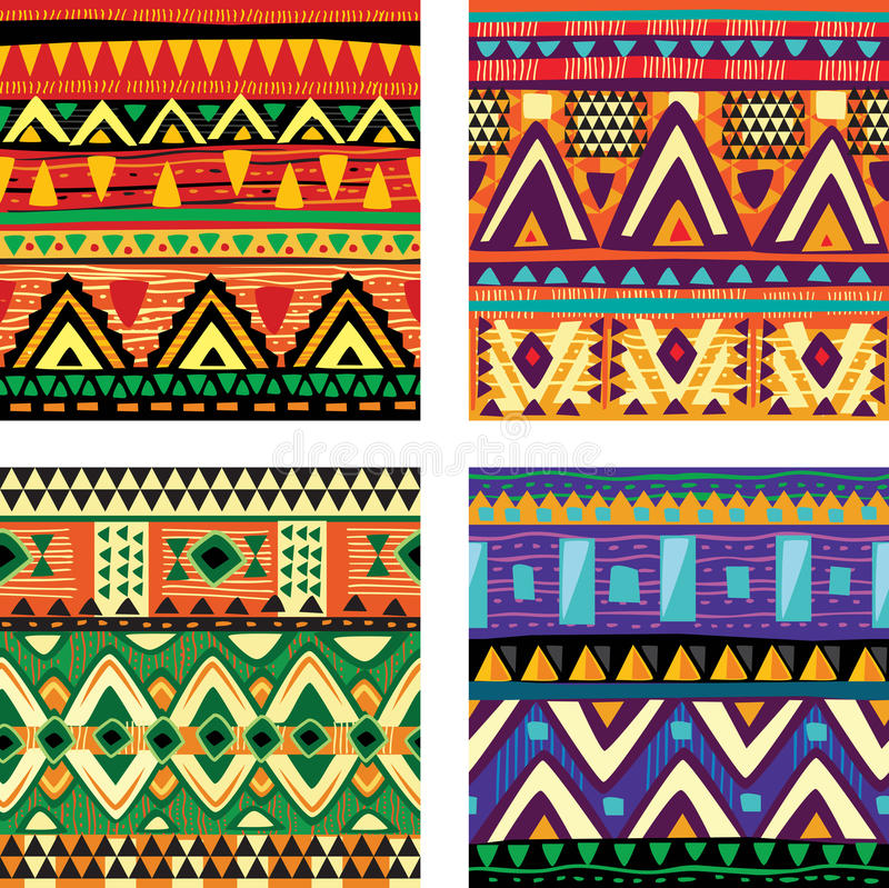 Download Seamless tribal texture stock vector. Image of rhomb - 29497429