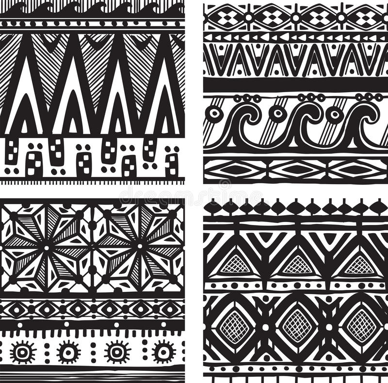 Download Seamless tribal texture stock vector. Image of seamless - 34115100