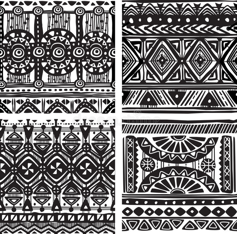 Download Seamless tribal texture stock vector. Illustration of native - 34124932