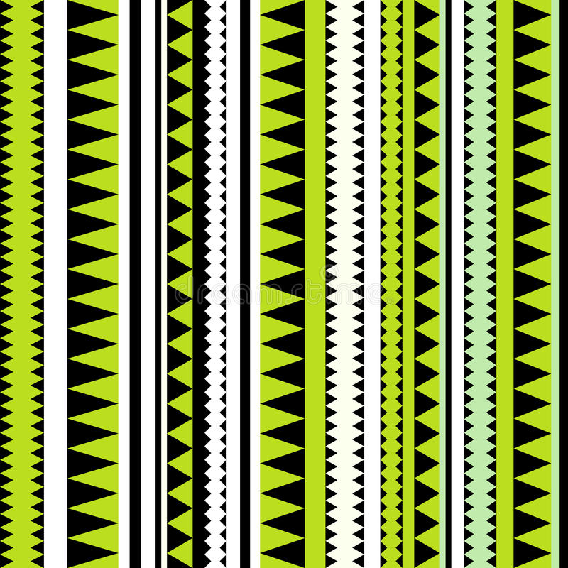 Seamless tribal texture. Tribal pattern. Colorful ethnic striped royalty free illustration